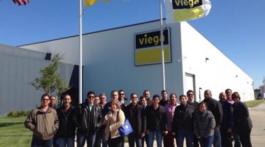 Visita del Personal técnico de Ingasa a las fábricas de Viega